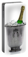 Champagne Bottle On Ice Portable Battery Charger