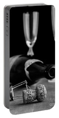 Champagne Bottle Still Life Portable Battery Charger