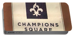 Champions Square Portable Battery Charger by Deborah Lacoste