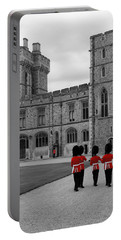 Changing Of The Guard At Windsor Castle Portable Battery Charger