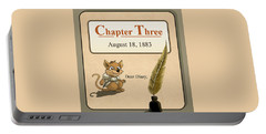 Portable Battery Charger featuring the painting Chapter Three by Reynold Jay