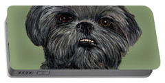 Charcoal Shih Tzu  Portable Battery Charger
