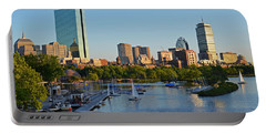Charles River At Sunset Portable Battery Charger