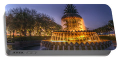Charleston Pineapple Fountain Portable Battery Charger