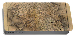Portable Battery Charger featuring the painting Charleston Vintage Map No. I by James Christopher Hill