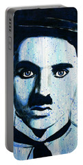 Charlie Chaplin Little Tramp Portrait Portable Battery Charger