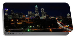 Charlotte Nc At Night Portable Battery Charger