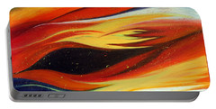 Portable Battery Charger featuring the painting Charybdis by Michelle Joseph-Long