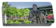Portable Battery Charger featuring the photograph Chattanooga Choo Choo Court Yard by Susan  McMenamin