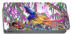 Cheerful Parrot. Colorful Art Collection. Promotion - August 2015 Portable Battery Charger