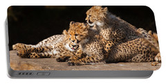 Cheetah Cubs Close Together Portable Battery Charger