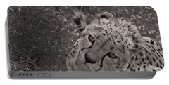 Cheetah Eyes Portable Battery Charger by Martin Newman