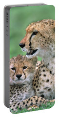 Cheetah Mother And Cub Portable Battery Charger