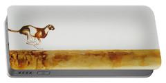 Cheetah Race - Original Artwork Portable Battery Charger