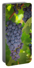 Chelan Blue Grapes Portable Battery Charger by Inge Johnsson