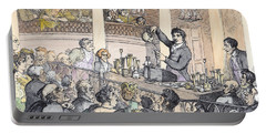 Chemical Lectures Portable Battery Charger by Thomas Rowlandson