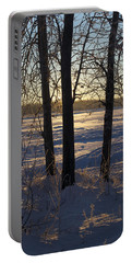 Chena River Trees Portable Battery Charger by Cathy Mahnke