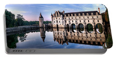 Chenonceau Castle In The Evening Portable Battery Charger