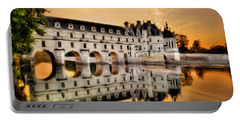 Chenonceau Castle In The Twilight Painting Portable Battery Charger