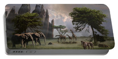 Cherish Our Earth's Creatures Portable Battery Charger by Melinda Hughes-Berland