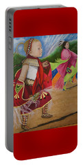 Cherokee Ribbon Dancers Portable Battery Charger