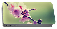 Portable Battery Charger featuring the photograph Cherry Blooms by Yulia Kazansky