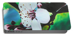 Portable Battery Charger featuring the painting Cherry Blosom by Joshua Morton