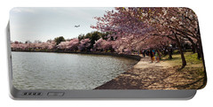 Cherry Blossom Trees At Tidal Basin Portable Battery Charger