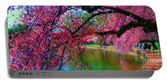 Cherry Blossom Walk Tidal Basin At 17th Street Portable Battery Charger
