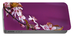 Cherry Blossoms And Plum Door Portable Battery Charger