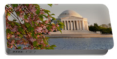 Portable Battery Charger featuring the photograph Cherry Blossoms And The Jefferson Memorial 3 by Mitchell R Grosky