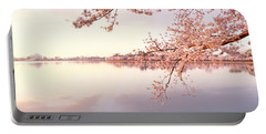 Cherry Blossoms At The Lakeside Portable Battery Charger