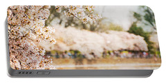 Portable Battery Charger featuring the photograph Cherry Blossoms In Washington Dc by Vizual Studio