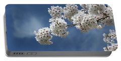 Cherry Tree Portable Battery Charger by Karen Silvestri