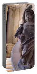 Portable Battery Charger featuring the photograph Cherub At The Entrance Of Zwinger Palace - Dresden Germany by Jordan Blackstone
