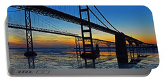 Chesapeake Bay Bridge Reflections Portable Battery Charger