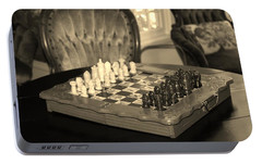 Portable Battery Charger featuring the photograph Chess Game by Cynthia Guinn