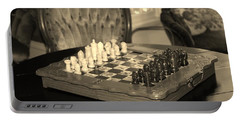 Chess Game Portable Battery Charger by Cynthia Guinn