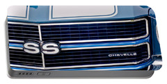 Chevrolet Chevelle Ss Grille Emblem 2 Portable Battery Charger by Jill Reger