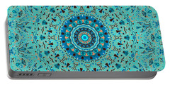 Cadet Blue Digital Art Portable Battery Chargers