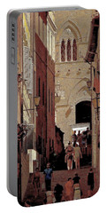 Chiaroscuro Siena  Portable Battery Charger by Ira Shander