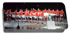 Chicago Blackhawks And The Banner Portable Battery Charger