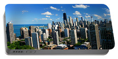 Chicago Buildings Skyline Clouds Portable Battery Charger