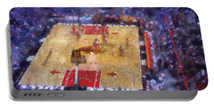 Chicago Bulls Game Day Photo Art 02 Portable Battery Charger