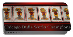 Chicago Bulls World Champions Banners Portable Battery Charger