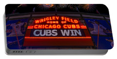 Chicago Cubs Win Fireworks Night Portable Battery Charger