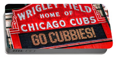 Chicago Cubs Wrigley Field Portable Battery Charger by Christopher Arndt