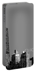 Chicago Hancock Building - Pewter Portable Battery Charger