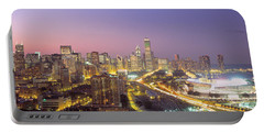 Chicago, Illinois, Usa Portable Battery Charger by Panoramic Images
