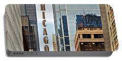 Chicago  Portable Battery Charger by Lydia Holly